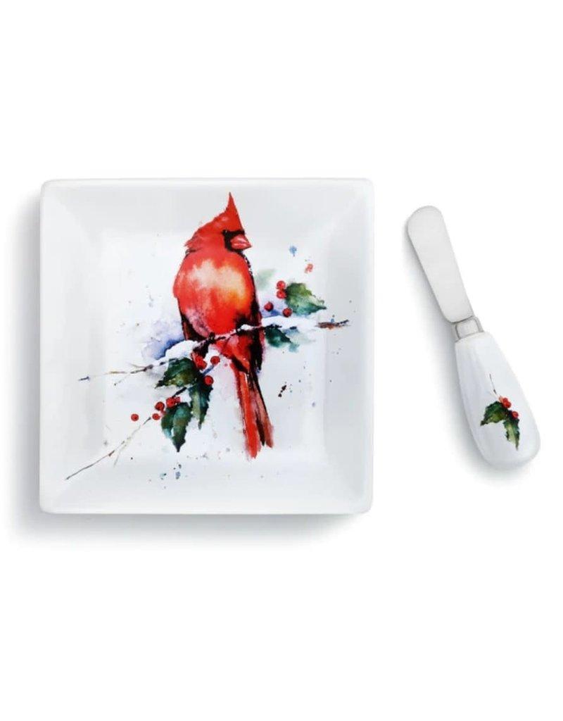 Demdaco Cardinal Plate and Spreader Set