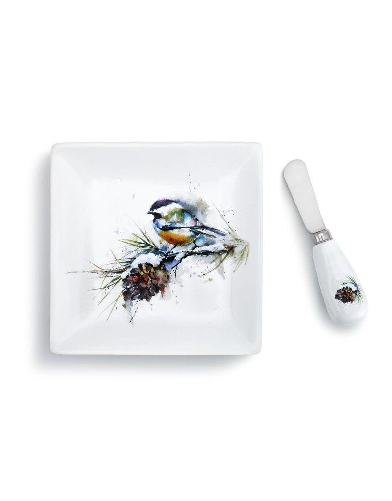 Demdaco Chickadee Plate and Spreader Set