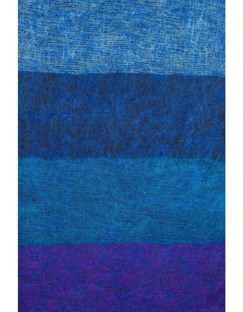 The  Curious Yak Hand Woven Scarves from Nepal - Big Blue