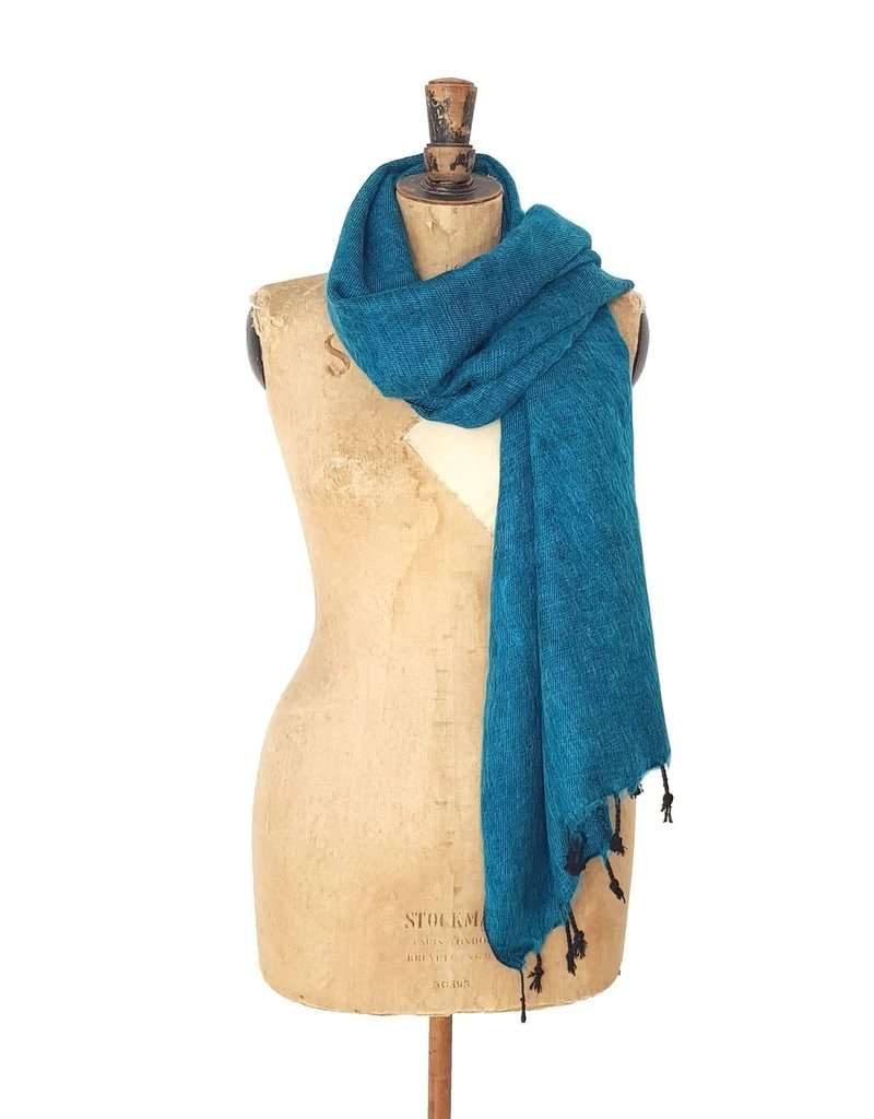 The  Curious Yak Hand Woven Scarves from Nepal - Teal