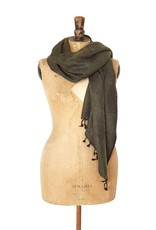The  Curious Yak Hand Woven Scarves from Nepal - Moss