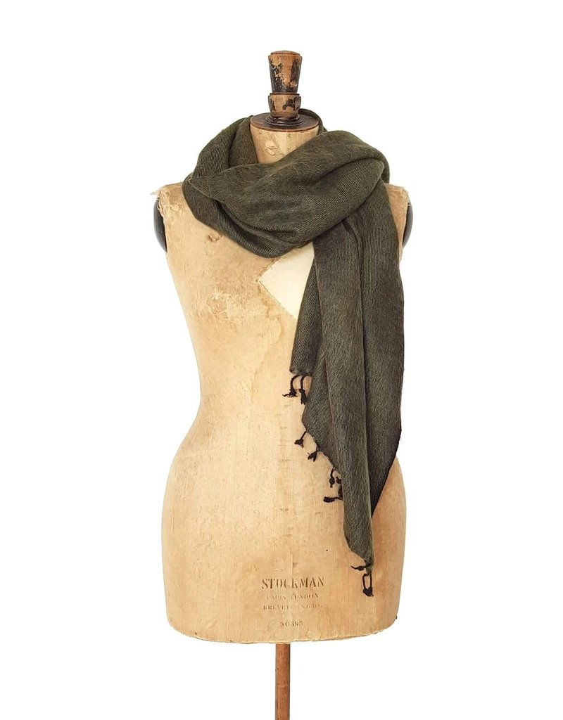 Hand Woven Scarves from Nepal - Moss