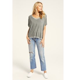 Z Supply Mischa Sleek V-Neck - Ash Green