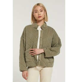 Z Supply Maya Quilted Jacket - Washed Olive
