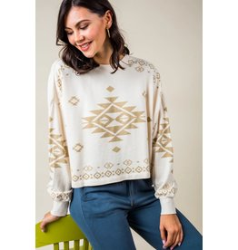Z Supply Lea Tribal Sweatshirt