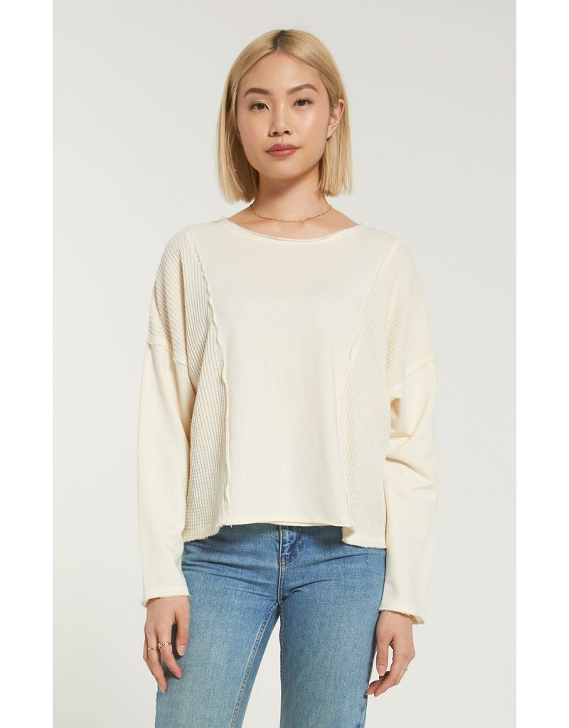 Z Supply Harper Thermal Skimmer Long Sleeve Tee - Bone