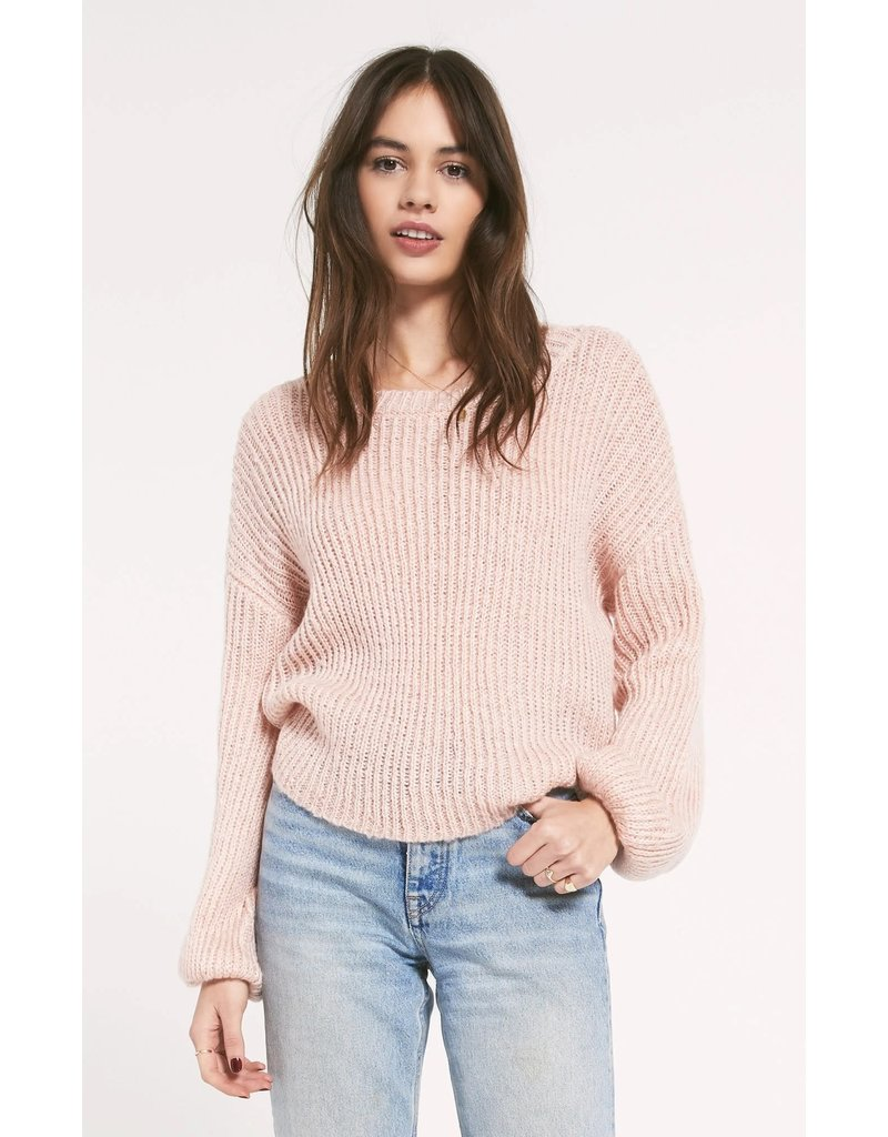 Z Supply Shoreditch Sweater - Pale Pink