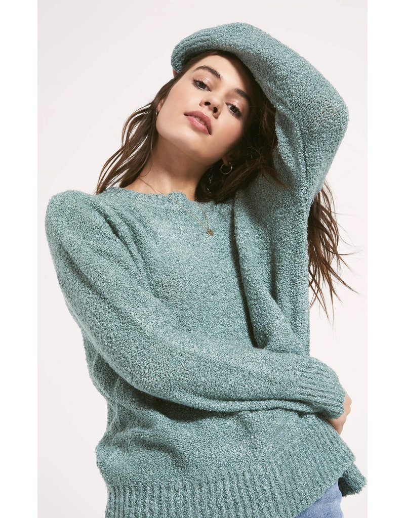 Z Supply Westbourne Sweater - Heather Aqua