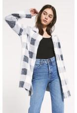 Z Supply Charlotte Plaid Sweater Coat