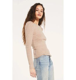 Z Supply Kaiya Rib Long Sleeve - Heather Latte