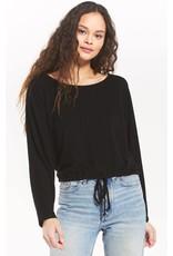 Z Supply Dollie Sweater Slub Top - Black