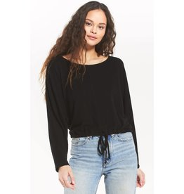 Z Supply Dollie Sweater Slub Top - Black