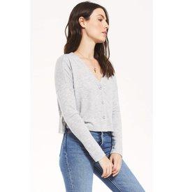 Z Supply Cher Sweater Slub Top - Heather Grey