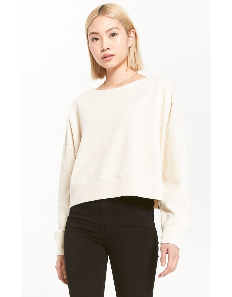 Z Supply Astrid Cord Pullover - Bone