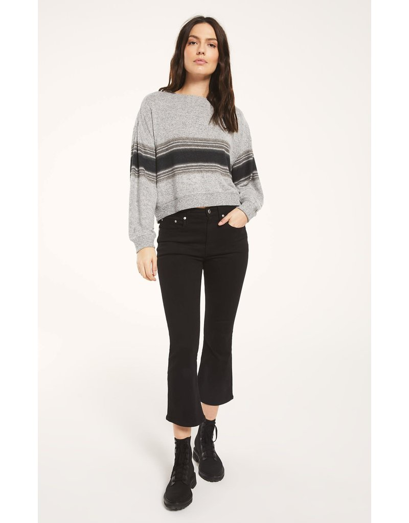 Z Supply Elle Marled Stripe Long Sleeve