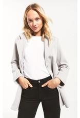 Z Supply Vella Chevron Jacket - Soft Grey