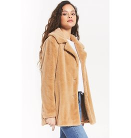 Z Supply Carmen Faux Fur Coat - Carmel