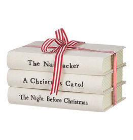 Cream Stacked Christmas Books