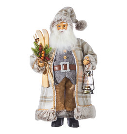 Pinecone Lodge Santa with Skis