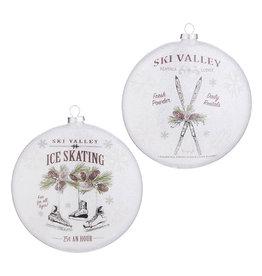 Ski Valley Disc Ornament