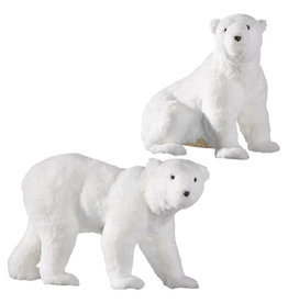 """17"""" Glittered Polar Bear"""