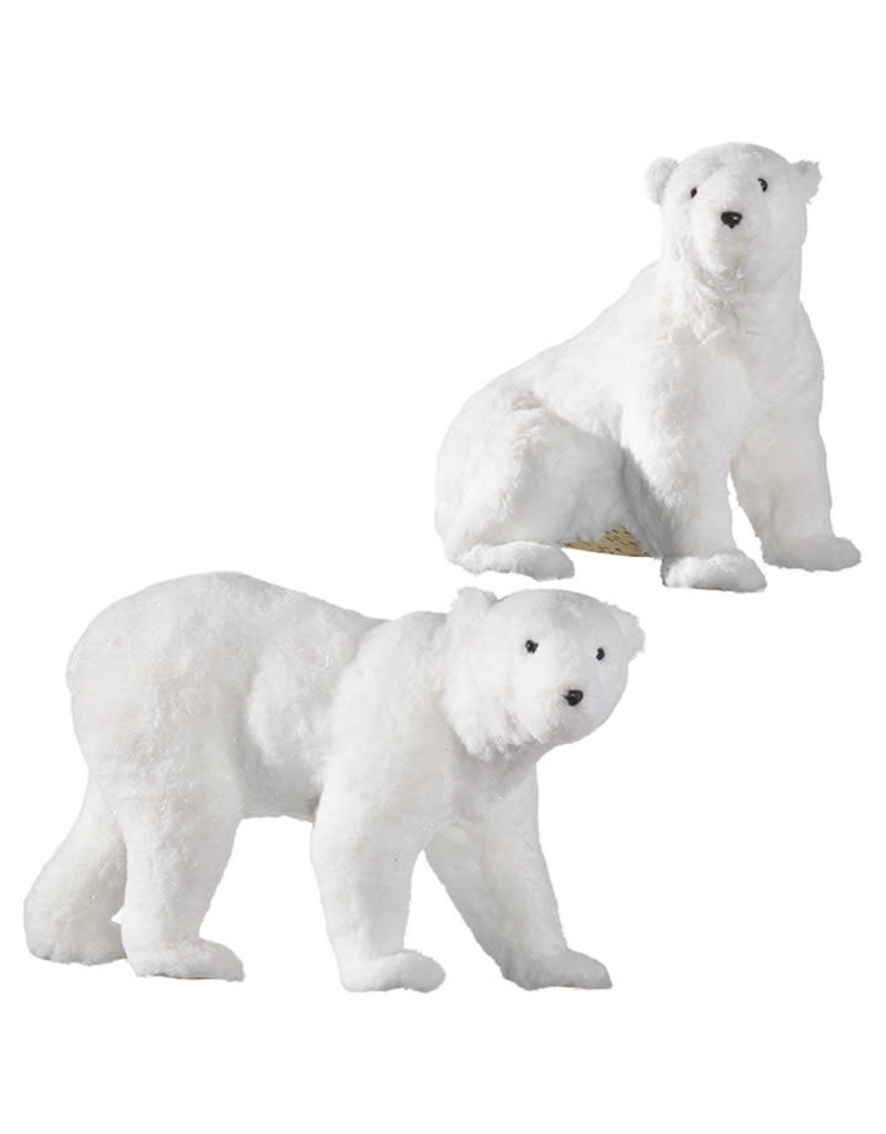 "17"" Glittered Polar Bear"