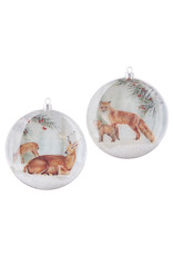 Deer and Fox Disc Ornament