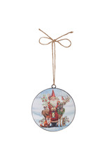 Woodland Santa Disc Ornament