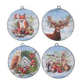 Woodland Animals Disc Ornament
