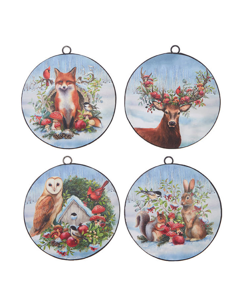 Woodland Animals Disc Ornament