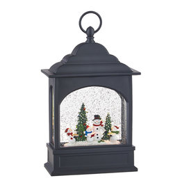 Snowman Caroler Musical Lighted Water Lantern