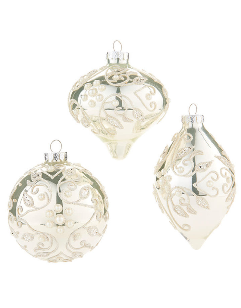 Glitter and Pearl Ornament