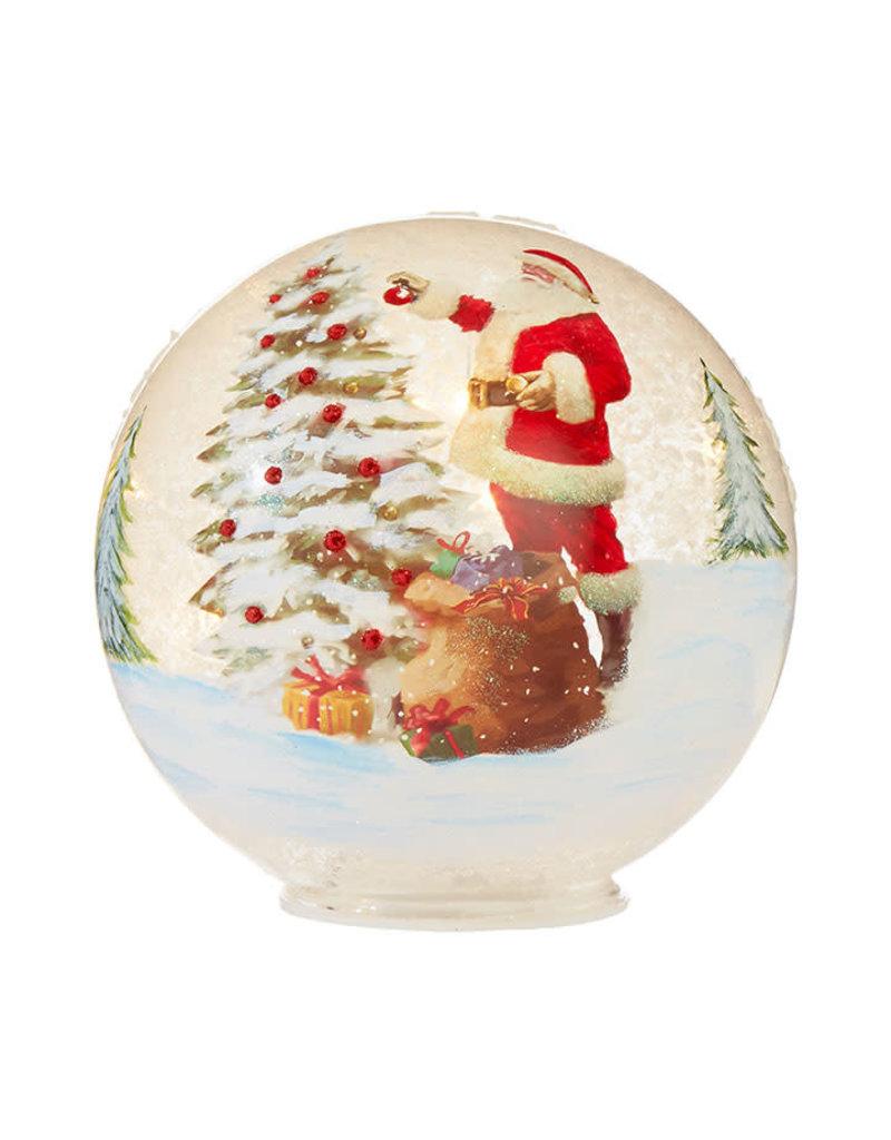 Santa Lighted Ball