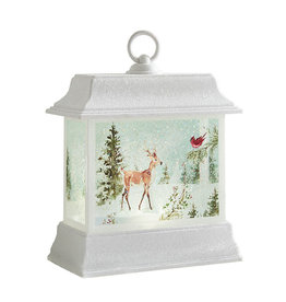 Woodland Animal Lighted Water Lantern