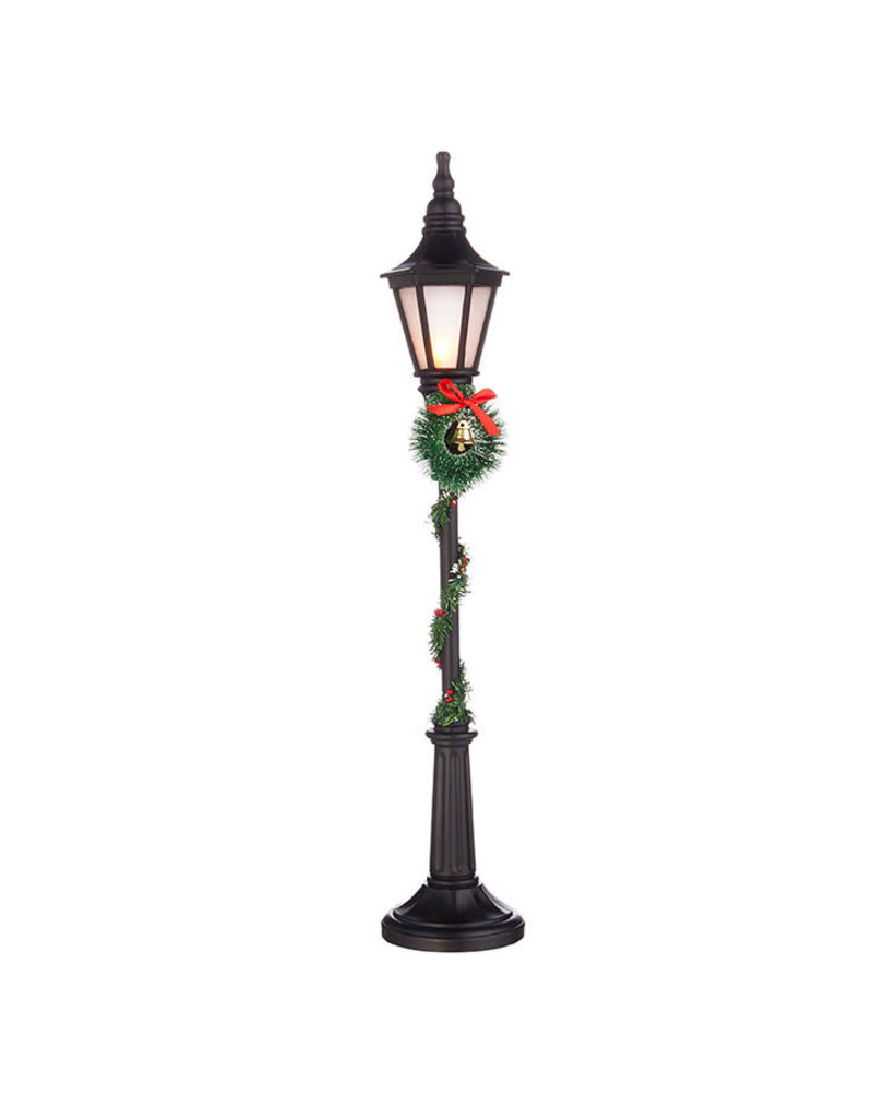 """23.75"""" Lighted Lamppost with Greenery"""