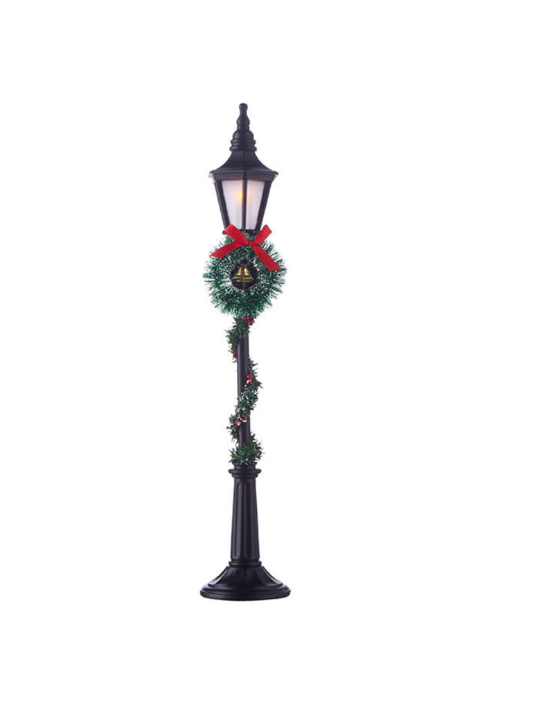 """18.5"""" Lighted Lamppost with Greenery"""