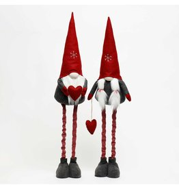Boy/Girl Gnome With Snowflake Hat And Heart