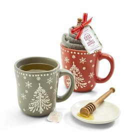 Mug with Socks & Honey Dipper