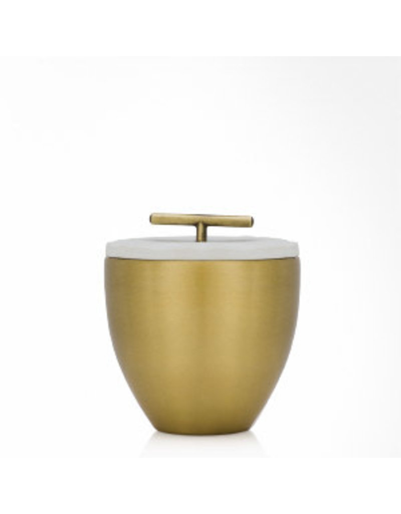 Frasier Fir Poured Gold Metal Candle With Lid