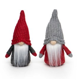 Gnome Small Knit Hat Red/ Grey