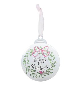 Baby's 1st Christmas Ornament - Pink