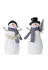 Snowman With Tree/Joy
