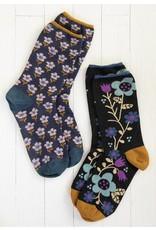 Natural Life Boho Sock Set - Black/Navy/Floral