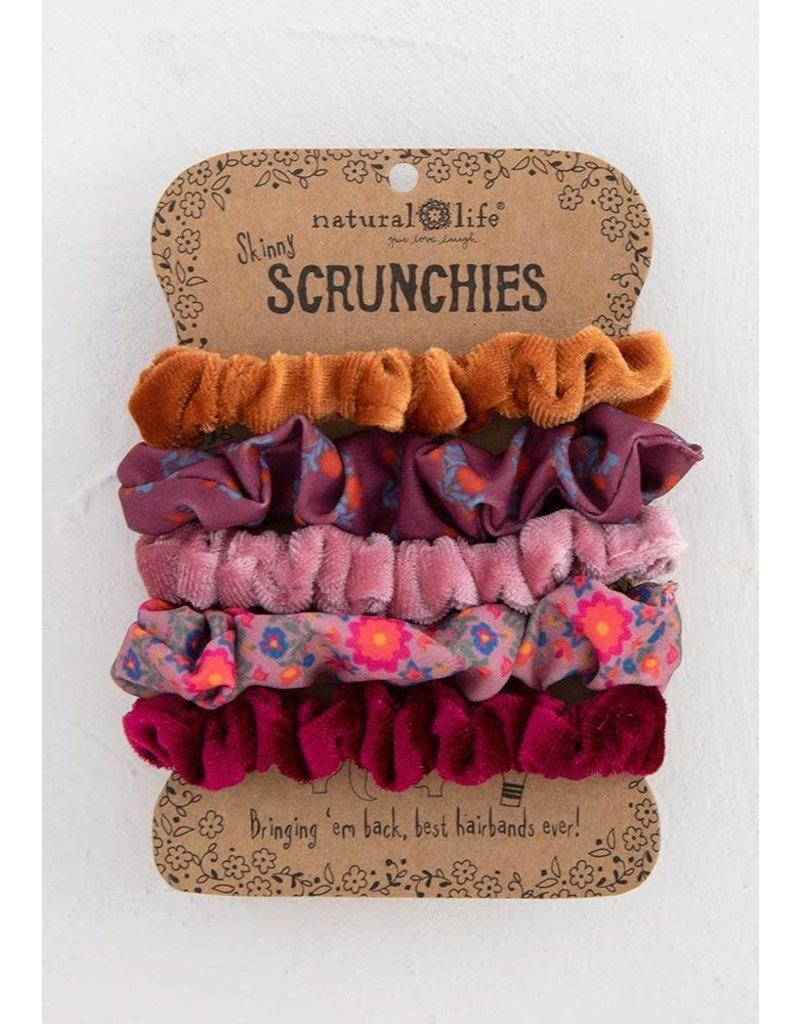 Natural Life Mixed Scrunchies Set - Orange