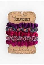 Natural Life Mixed Scrunchies Set - Berry