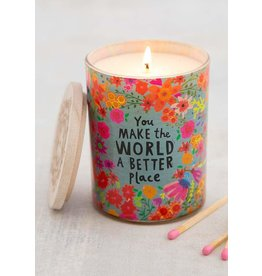 Natural Life Soy Candle - Make The World Better