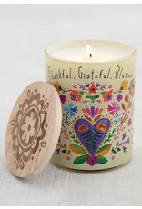Natural Life Soy Candle - Thankful, Grateful, Blessed