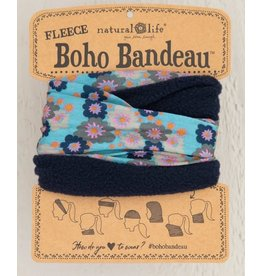 Natural Life Fleece Boho Bandeau - Aqua Floral
