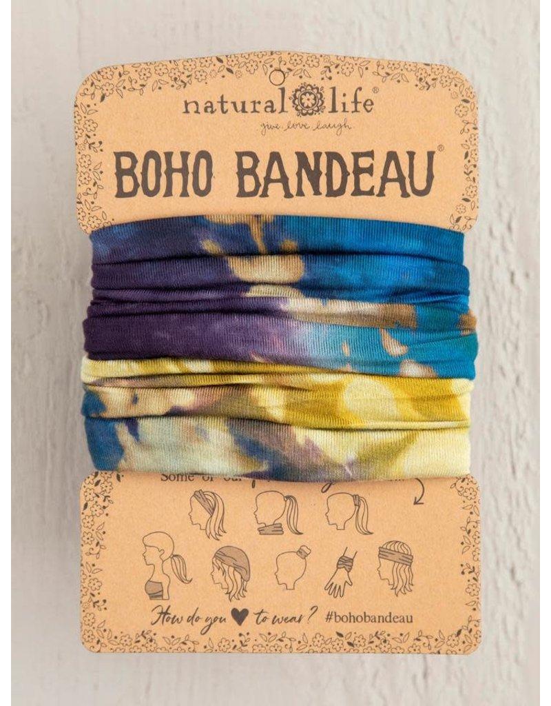 Natural Life Boho Bandeau Blue Multi Tie Dye