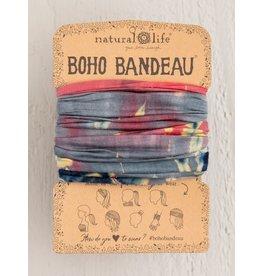 Natural Life Boho Bandeau Grey/Coral Tie Dye